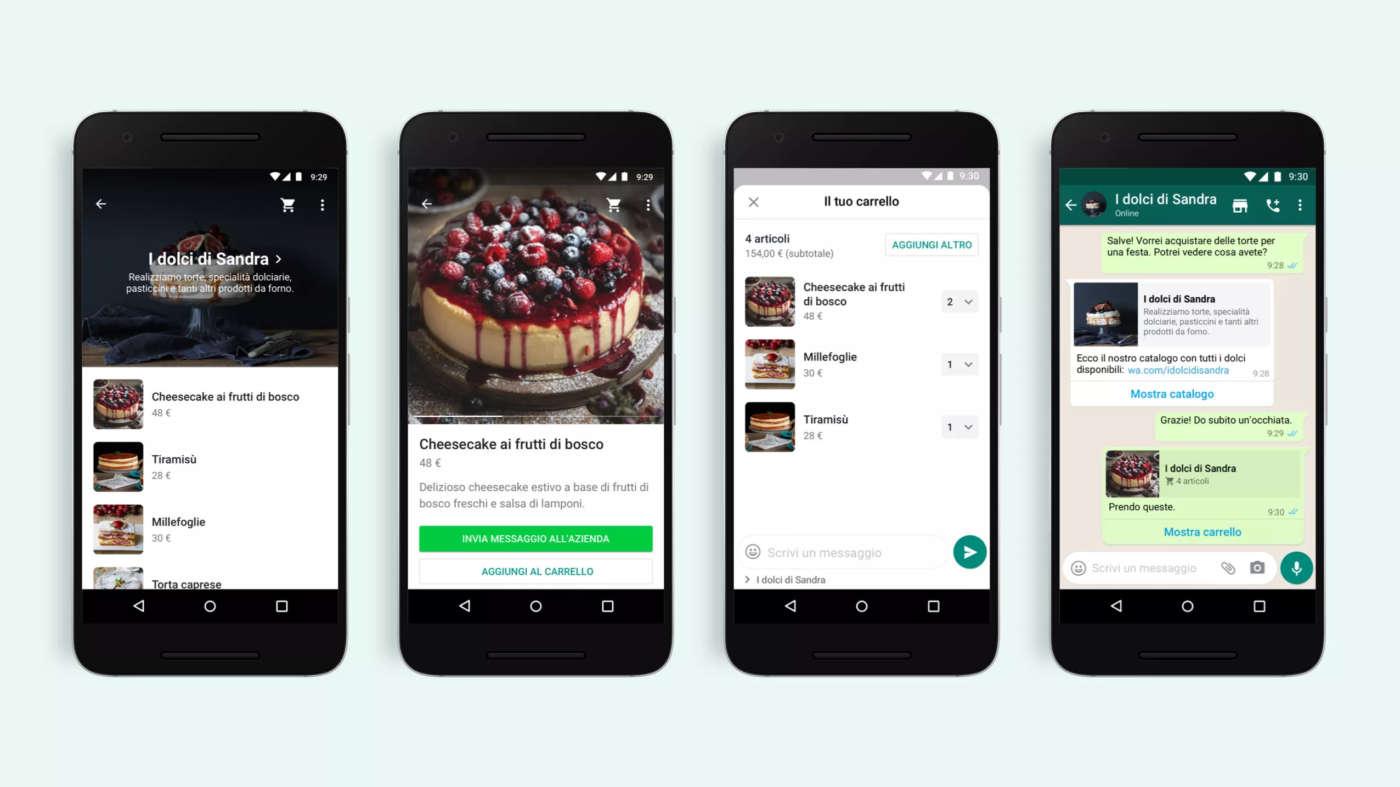 Vendere con WhatsApp: arriva la funzione carrello